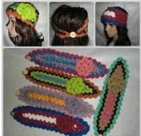 Winter hair band wigs fashion bandanas women's knitted hat ear headband