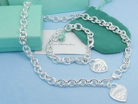 Free Shipping  925 Silver Jewelry Set Well Desgined Cute Gift Top Quality Original Package #TFS011