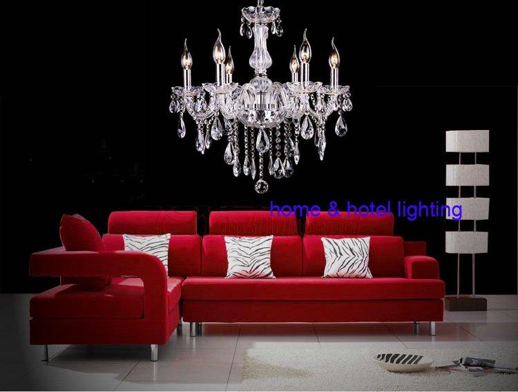 Buy modern hanging lamp modern pendant lamp dining room lighting 5 light mini - Contemporary crystal dining room chandeliers ...