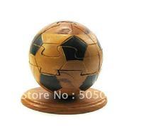 football(soccer)- Peach heart wood  Puzzle Wooden Brain Teaser
