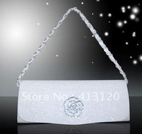 Free Shipping Hot!! Women Ladies Dress Banquet Handbag Solid Shoulderbag Evening Bag Rose Decorate