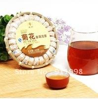 Aged Organic chrysanthemum Pu'Er Mini Ripe puer tuocha in Delicate Bamboo package Health Pu-ER Tea 200G Free Ship