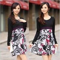 2014 New women long-sleeve dresses Maternity dress Maternity clothing Maternity long sleeve dress
