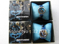 wholesale 5 pcs fashion Batman watch in box kids watch Christmas gift mix order(China (Mainland))