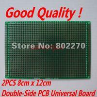 2PCS 8cm x 12cm Double-Side Prototype PCB Universal Board in DIY circuit design