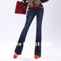 FREE SHIPPING brand slimming sexy flared women jeans