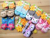 12pairs/lot animal design baby non slip floor socks infant cartoon booties various designs 0-2T Free Shipping