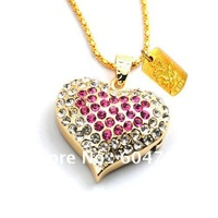 Nice lady  diamond  heart shape USB disk 8GB/16GB/32GB