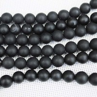 Free Shipping  ! 148pcs/Lot,Black Stone Beads Strands,Loose Semi Precious Stone Beads And Beads Accessories,Size: 10mm