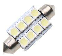 Free shipping 20pcs/lot 8 5050 SMD LED 41mm Car Interior Dome Festoon White Bulb Light,car tail light