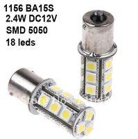 Free shipping 4pcs/lot Car light 1156/BA15S White 18pcs 5050 SMD LED Turn Signal Light 2.4W 210lm DC12V