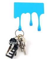 Free Shipping multifunctional paint drip clothes hook,metal key/bag hanger,novelty decorative wall hook,home accessory.