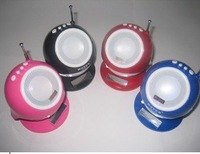 Portable sound card speaker mini-stereo with radio U disk mini speaker to speaker Jet audio  WS-2013
