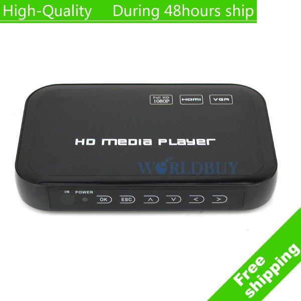 High Quality Full HD 1080P USB HDD Media Player HDMI VGA MKV H.264 free shipping DHL EMS HKPAM CPAM(China (Mainland))