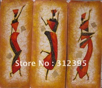 Beautiful ! Green canvas Vase of Lotus flowers oil painting on canvas +FREE GIFT