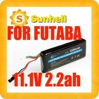 2200mah 3S1P 11.1V Futaba 3PK Transmitter lipo battery 3s