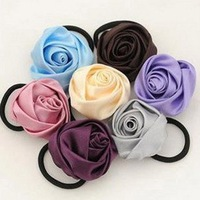 wholesale and Factory Price Lady Noble Satin Rose Flower Hair Ornaments Headdress Flower Tire
