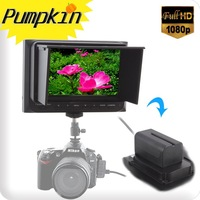 "Mini 5""1080P On DSLR Camera\Video Field Monitor W/HDMI In+Out Sunhood Hot Shoe Sony F970 6800Mah Battery"