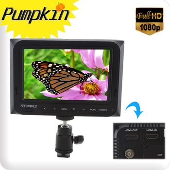 "Mini 5""1080P On DSLR Camera\Video Field Monitor W/HDMI In+Out Sunhood Hot Shoe W/O Battery"