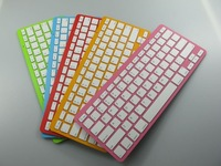 Free shipping Multi-color Wireless bluetotooth keyboard for the new ipad