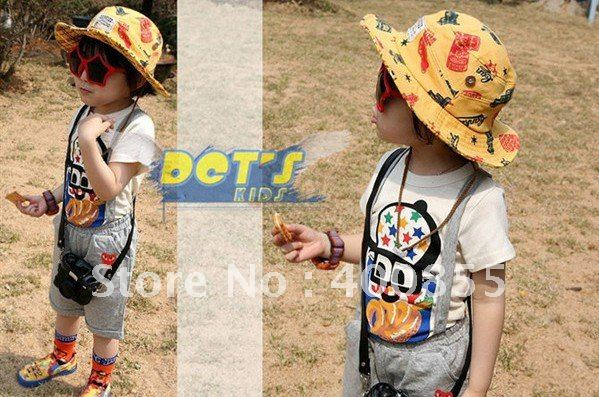 Cool Children's cowboy hat,Kid's cap, children fisherman hat,boy's and girl's bucket hats(China (Mainland))