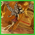 Peter Pan Fairy Angel Wings Girl Full Drill Vintage Necklace Pendant 2013 New Fashion Jewelry Chain Gift Free Shipping Wholesale