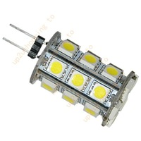 50pcs/lot G4 Base 12V DC 24 SMD/SMT LED Pure White Tower 330 Lumen Marine Landscape hot sale free shipping