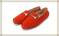 free shippment best quality red  fashine and leisure leather shoes Buckle suede casual shoes for women