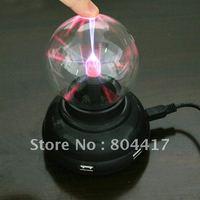 New 1Pcs Mini USB Hub 4 ports USB 2.0 Ihub Power Plasma Ball Sphere Light Lamp Desktop Light Show For Laptop PC+Free Shipping