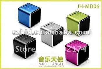 DHL shipping ... 100pcs Portable music angel speaker MD06 ,50pcs car speaker