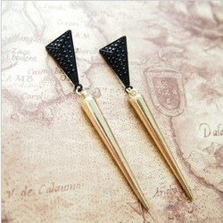 Free shipping 2012 Newest fashion Earrings Jewellery Hot Wholesale Major suit design punk retro style earrings Lady Earrings(China (Mainland))