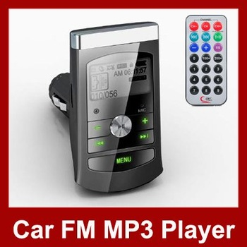"Car MP3 Player Wireless FM Transmitter With 1.0"" LCD Screen Remote Controller USB/ SD Slot Free Shipping"