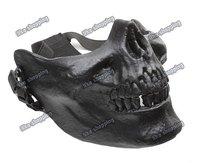 Tactical Cacique M03 Skull Half  Mask bk