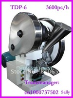 Single punch tablet press machine TDP-6 /Tableting/ Tablet Press /3600pc/h