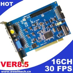 Software V8.5 Low Cost 30fps 16ch Video Capture DVR Card D-type, Full D1 Supports Max 32ch/Win 7 OS - Free shipping by DHL(China (Mainland))