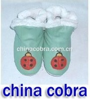 free shipping soft sole leather baby boots winter boots snow boots
