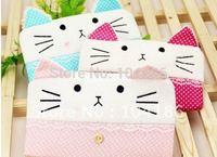 6PCS Plush Kitty Cats CARTOON School Pen Pencil Bag Case Holder ; Cosmetics & Coin Purse Storage BAG