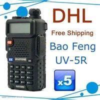 5 Watts dual band dual display handheld radio BAOFENG UV-5R cheap walkie talkie