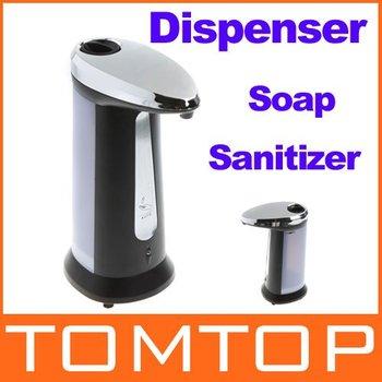 Automatic Sensor Soap & Sanitizer Dispenser Touch-free Kitchen Bathroom Grey