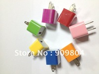 10 Color available USB Power Adapter Home Charger for iPhone4 4S iPod Touch Nano US Plug