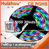 [Huizhuo] 5M 500CM 30 leds/M Non- Waterproof 150LEDS Flexible RGB 5050  Led Strip Light +24 Keys IR Remote