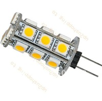 10pcs/lot New G4 2W 3000K 270-Lumen 18-5050 SMD LED Warm White Boat Light Bulb Lamp best price free shipping