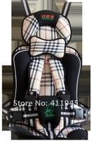 khaki color with grid baby car safe seat/free shipping