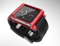 Red Aluminum Watch Band Wrist Cover Case For iPod Nano 6 6G 6th