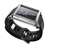 Watch Band For iPod Nano 6 Aluminum Wrist Watch Cover Case Silver