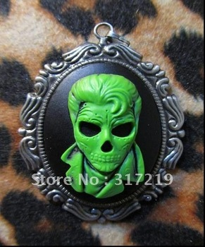 AAA quality 30*40mm Resin pendants resin Masked men Cameo,resin flower/cabochon for jewelry decoration!! Free Shipping
