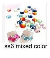 Nail Art Rhinestones 1440pcs/Lot ss6 1.9mm Mixed Colors Nail Sticker Free Shipping Dropshipping HB924-S6