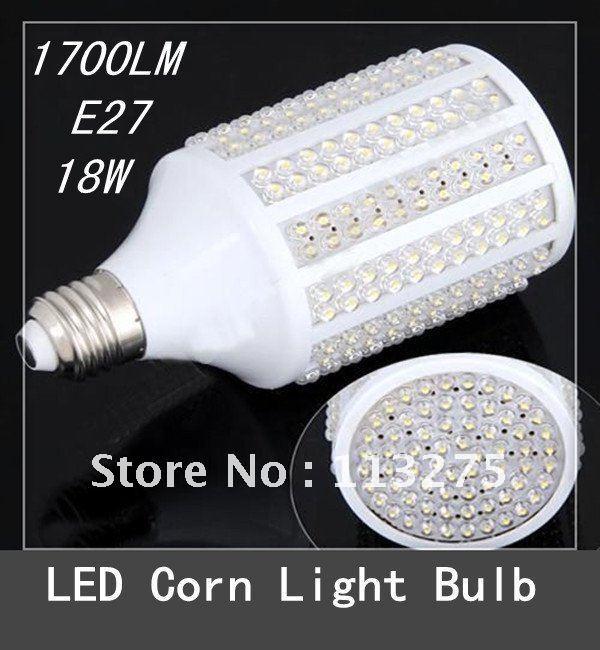 220V /110V 18W 330 LEDs E27 1700LM LED Light Bulb Lamp Warm / Cool White Light(China (Mainland))