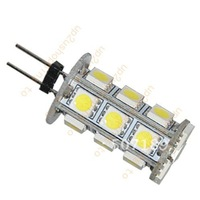10pcs/lot G4 LED Light 18SMD 5050 SMD Lamp 360 degree Energy Saving Bulb Pure White best price free shipping