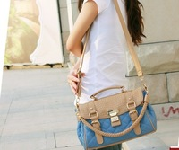 2012 summer new design handbag fashion rhombus pattern shoulder bag, messenger bag 7 colors SH03 less in stock